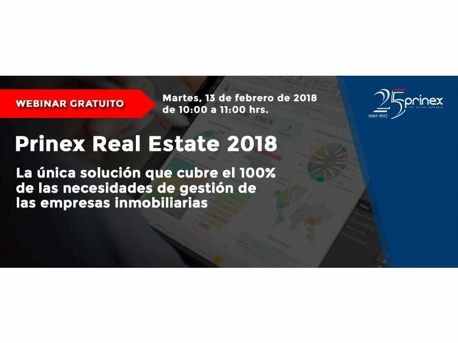 Webinar presentación última versión Prinex Real Estate 2018 + Prinex Analytics